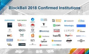 BlockBali 2018 Confirmed Institutions