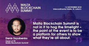 Denis Dzyubenko Malta Blockchain Summit
