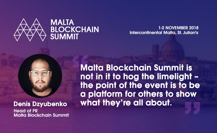 Denis Dzyubenko Malta Blockchain Summit