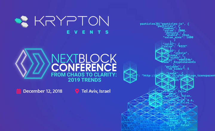 "NEXT BLOCK Conference ""FROM CHAOS TO CLARITY: 2019 TRENDS"""