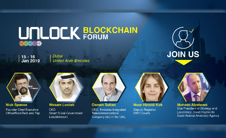 UNLOCK Blockchain Forum announces more than 56 Global and regional Speakers including Blockchain Evangelist Nick Spanos